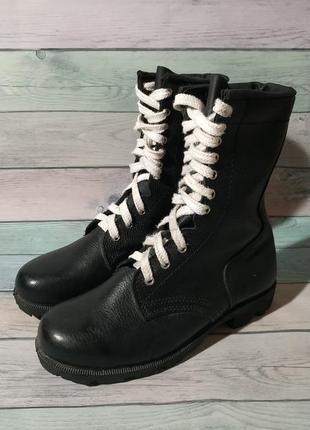 ♠️ кожанные ботинки берцы талан (27 см) ♠️