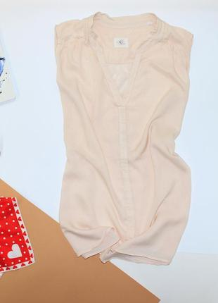 Легкая приятная блуза в принт горох капелька