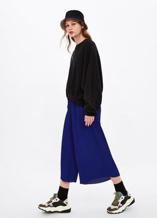 Zara идеальные брюки кюлоты плиссе