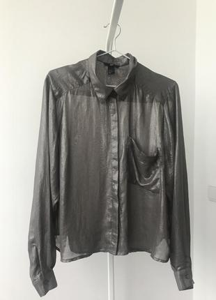 #розвантажуюсь блуза 42 р.{12} h&m оверсайз