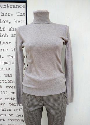 Гольф базовый свитер тонкий ralph lauren р. s - 36 бежевый