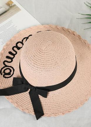 13-192 женская шляпа с широкими полями летняя от солнца шляпка панамка пляжная