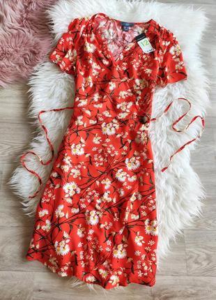 Новое цветосное платье на запах primark