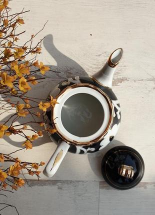 Чайник заварочный пахтагуль кобальт с золотом. ташкент, узбекистан2 фото