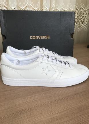 Кеды converse кожаные белые