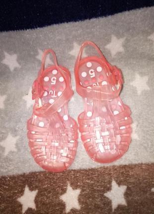 Силиконовые сандали босоножки