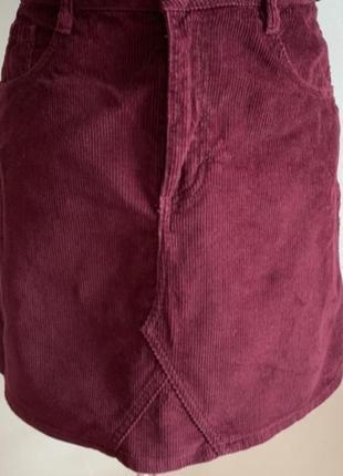 Трендовая,актуальная,вельветовая юбка, трапеция