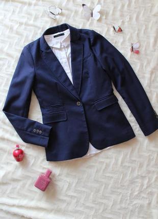 Стильний темно-синій піджак h&m