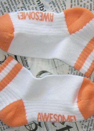 Спортивные носочки tchibo, германия - хлопок, утепленная подошва - размер 31-35