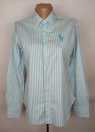 Блуза рубашка стильная оригинальная в полоску ralph lauren uk 10/38/s
