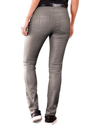 Sale -50%! джинсы с серебристым напылением tcm tchibo