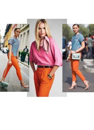 Штаны брюки оранжевого цвета