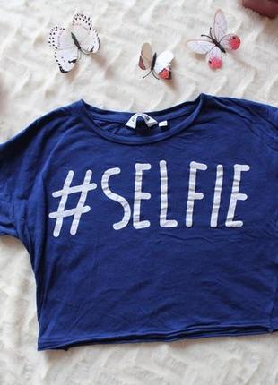 Топ selfie xs футболка укорочена