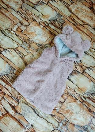 Меховушка,жилетка, меховая жилетка для девочки.