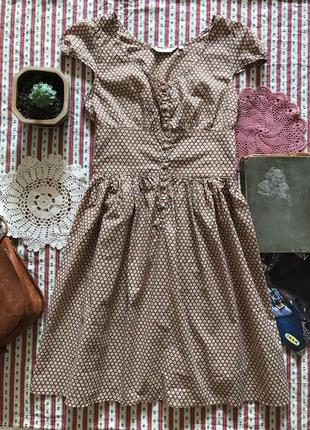 Платье в стиле ретро винтаж хлопок topshop размер 10