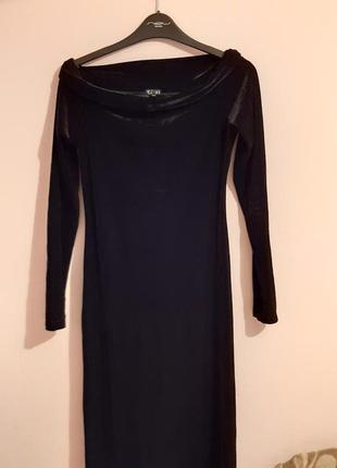 Вечернее длинное платье  бархат