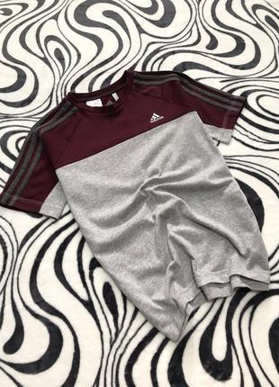 Оригинальная футболка adidas с полосами