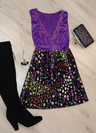 Платье в лавандовых оттенках
