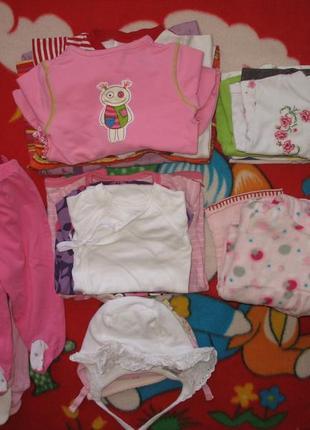 Лот № 1 одежда для девочки от 0 до 6-9 месяцев/боди*человечки