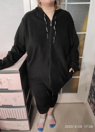Шикарная флиска с капюшоном большого размера 30/32