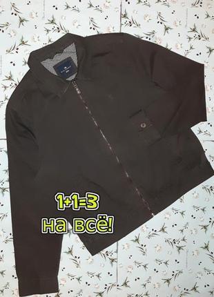 🎁1+1=3 фирменная мужская коттоновая куртка демисезон marks&spencer, размер 48 - 50