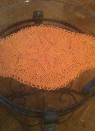 Оранжевая большая салфетка эллипсообразная ø 57 см, тонкая шесть
