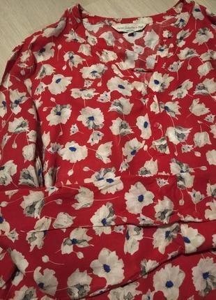 Брендовая рубашка в маки f&f