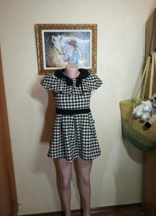 Платье из теплой ткани на рост 150 см