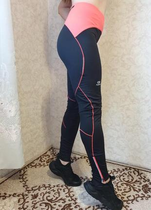Качественные спортивные лосины, леггинсы высокая посадка kalenji