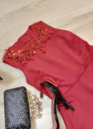 Платье оттенка спелых ягод