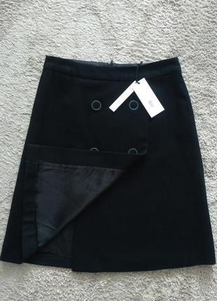 Черная юбка-трапеция   reserved ( wool blend )  р.382 фото
