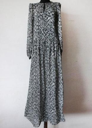 Платье макси zara в пол оверсайз