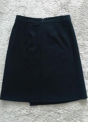 Черная юбка-трапеция   reserved ( wool blend )  р.384 фото