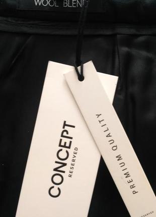 Черная юбка-трапеция   reserved ( wool blend )  р.385 фото