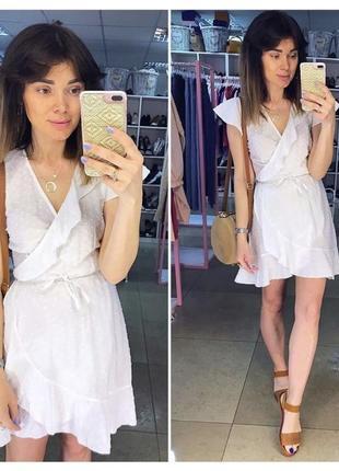 Хлопковое платье с вышивкой