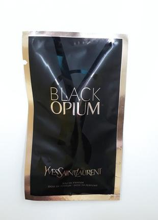 Yves saint laurent black ysl opium пробник в ампуле