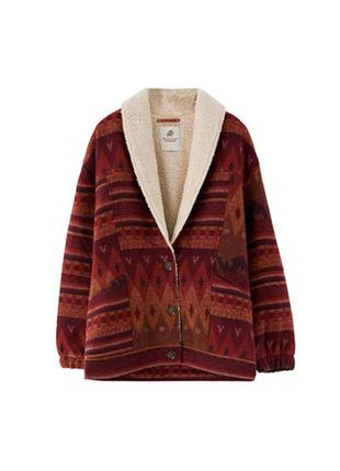 Куртка на овчинке пальто пальтишко короткое pull and bear