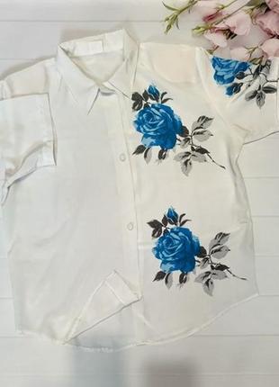 Блуза блузка рубашка с цветами