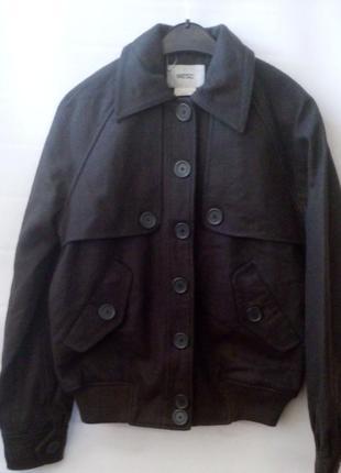 Шерстяная куртка - бомбер1
