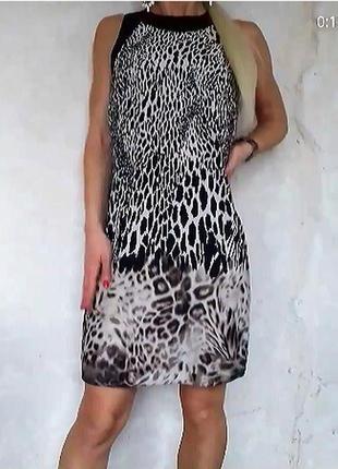 Летние платье леопардовый принт