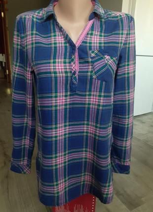 Длинная байковая рубаха h&m