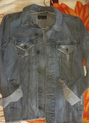 Продам куртку пиджак джинсовую asos s
