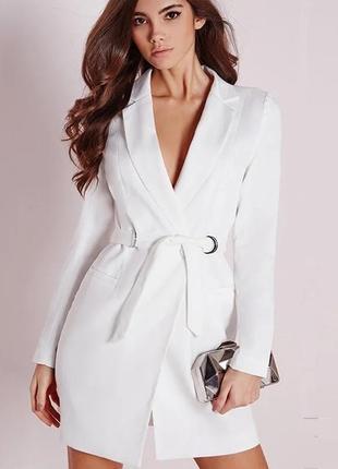 Белое платье пиджак