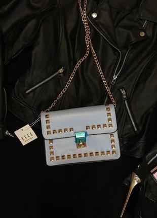 Шикарная стильная сумочка кроссбоди на ремне цепочке эко кожа новая