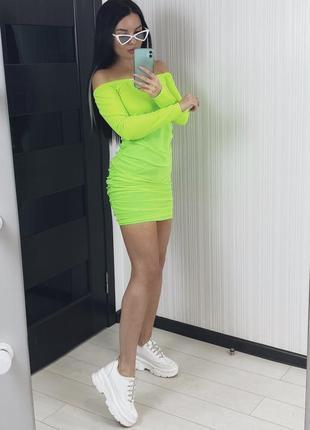 Платье метка неоновое