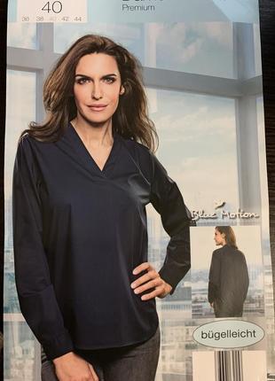 Шикарная блуза,премиум класса premium blue motion размер евро 40
