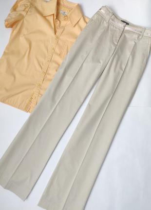 Прямые брюки палаццо бежевые коттоновые хлопковые oggi #розвантажуюсь