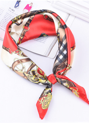 Платок платочек бант лента для волос на сумку топ-качество красный императорский новый