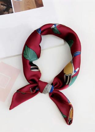 Платок платочек бант лента для волос на сумку топ-качество марсал какаду