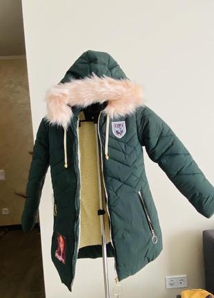 Зимняя куртка b&p на девочку 8-9 лет